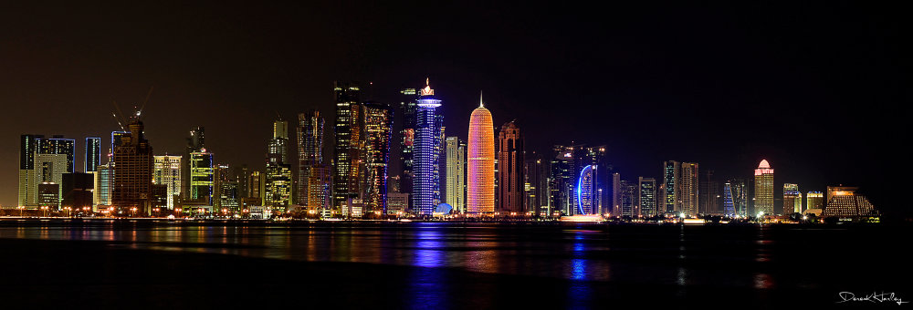 Doha Cityscape at Night