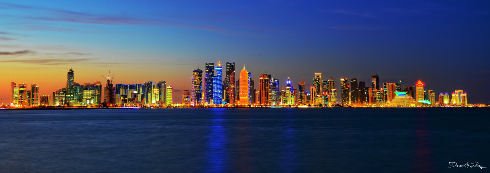 Doha Cityscape at Sunset