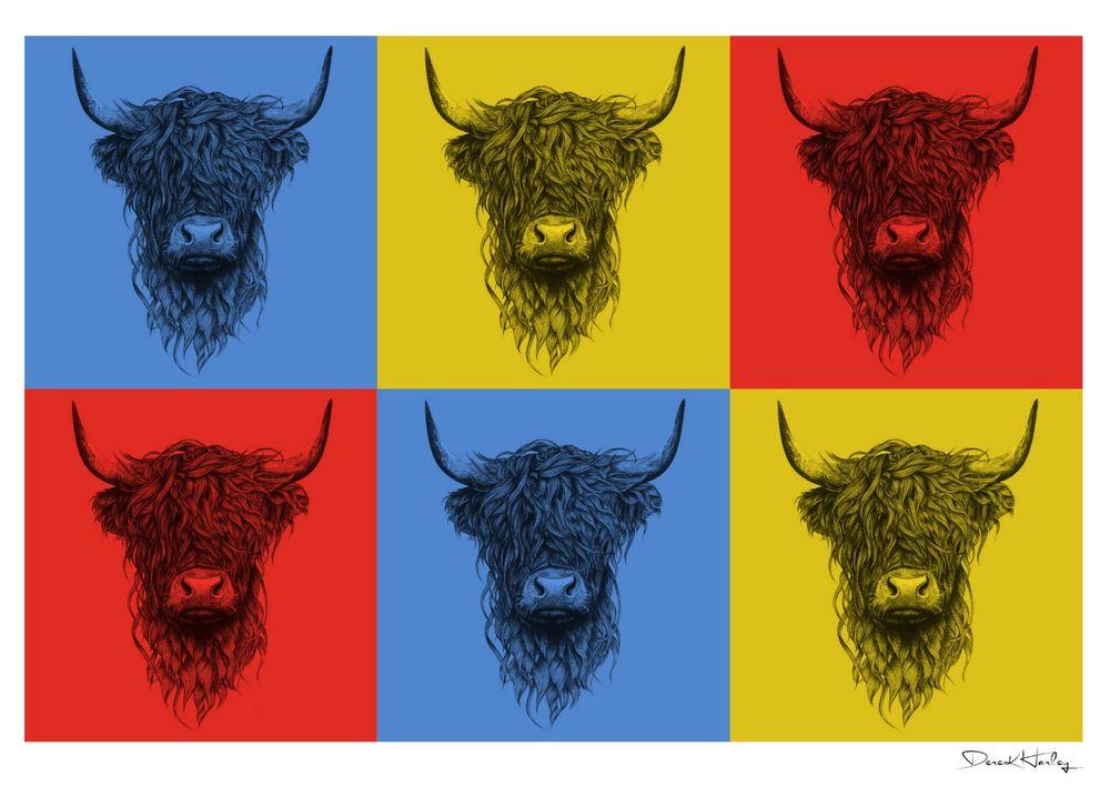 Warhol Style Highland Cow
