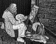 Street Artist Lake Como, Italy
