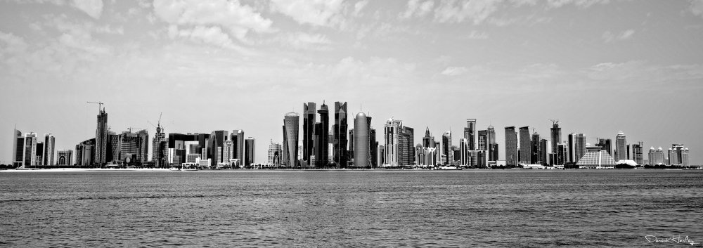 Doha Cityscape in Black & White