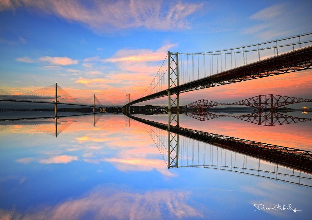 Forth Bridges at Sunset