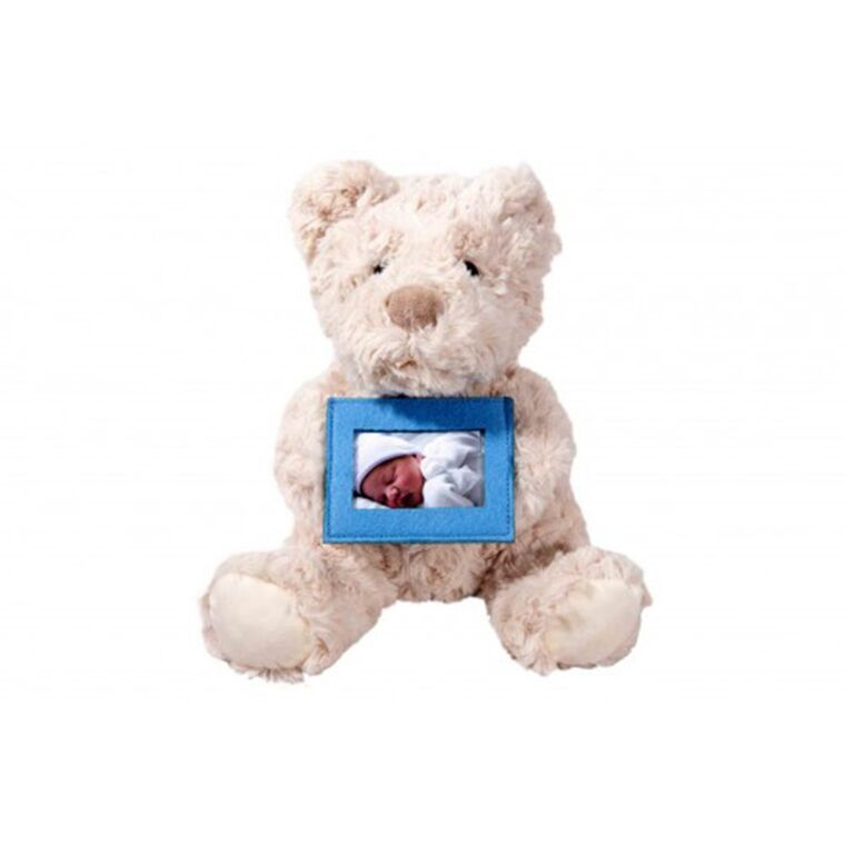 Soft Teddy with Felt Frame Classic - Pink