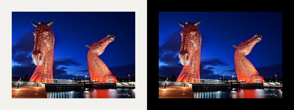 The Kelpies at Night (Colour)