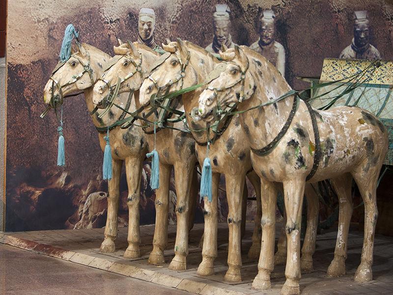 Terracotta Charriot Horses