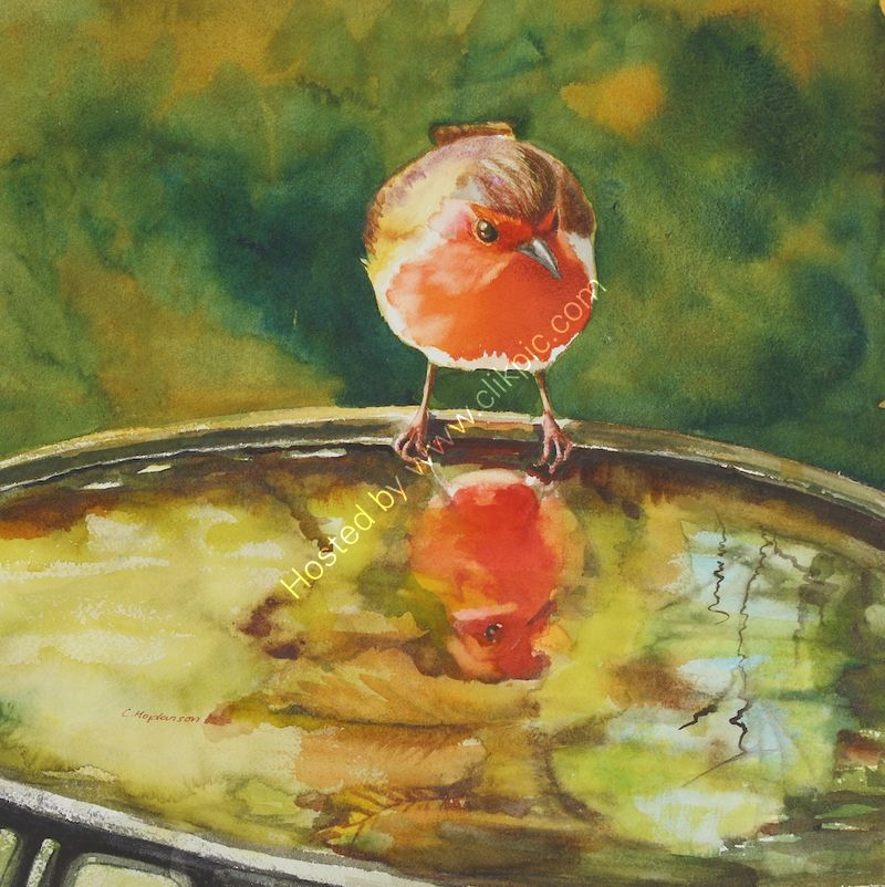 'Narcissus' watercolour SOLD!