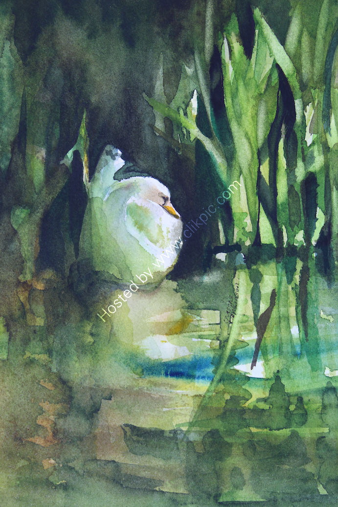 """'The Last Rays Of Summer' watercolour, 6.5""""x4.5"""""""