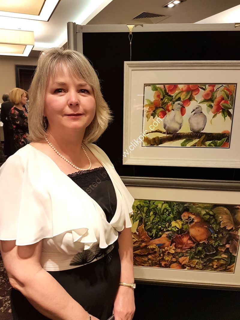 At the 2019 Fine Art Trade Guild dinner in Stratford-Upon-Avon