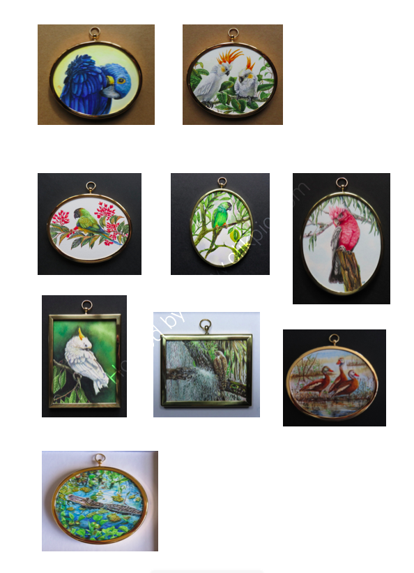 I have nine miniature paintings accepted into the 2021 Hilliard Society annual exhibition
