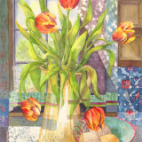FIERY TULIPS - SOLD -  A3 Print available