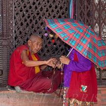 Nepal - Old nun