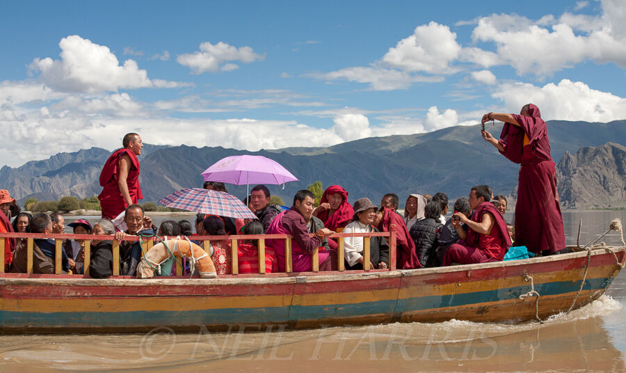 Ferry across the Tsangpo