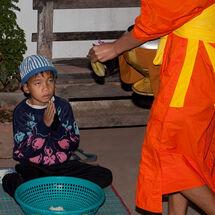 Begging from monks