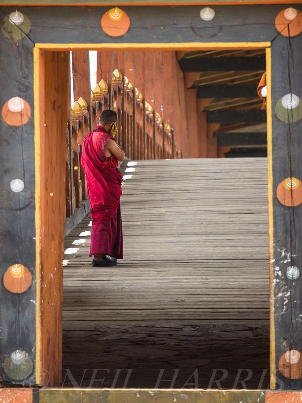 Mobile monk framed