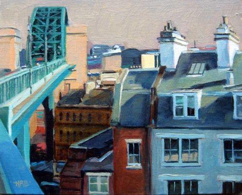 Buildings with Tyne Bridge