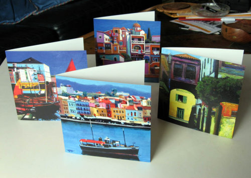 Cards with images from Abroad