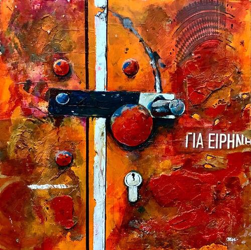 Red Locker Door