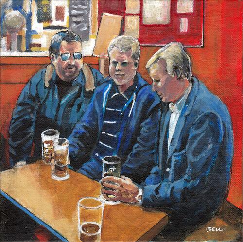 Three Men in a Bar