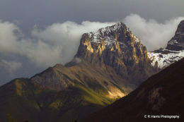 One of the three sisters at Canmor the Rockies BC