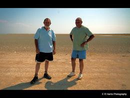 Harry & Ivor  on the Etosha Pan