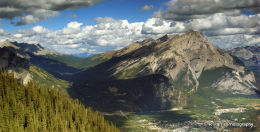 Looking Down on Banff.