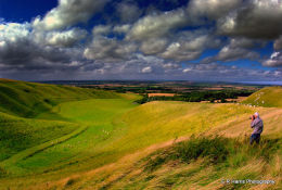 Windy day at the Manger - White Horse Hill