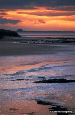 Seahouses towards Lindisfarn