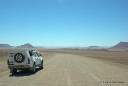 The start of the Namib Desert
