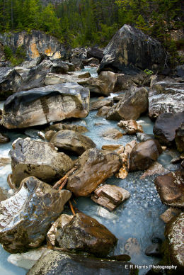Rocky meltwater creek BC