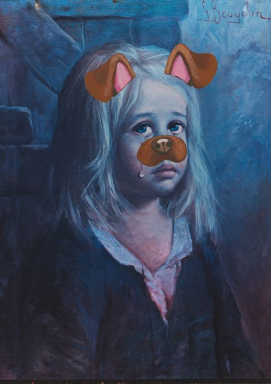 Crying Child With Snapchat Filter