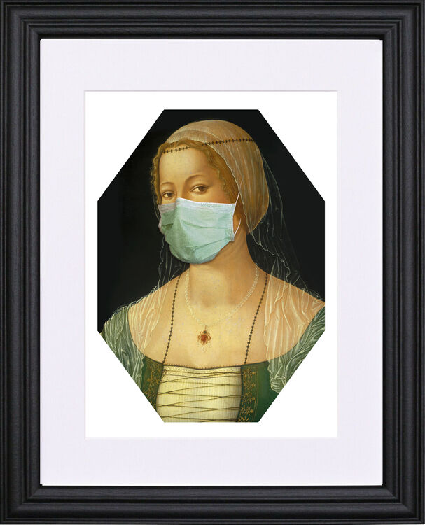 Masked Lady Black frame