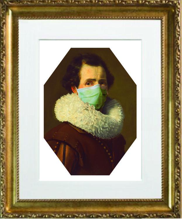 Masked Man gold frame