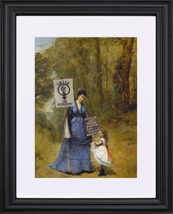 The Womens' March black frame