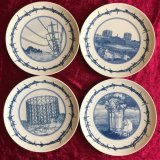 Set of four 'Best Of British-Delft Style ' plates