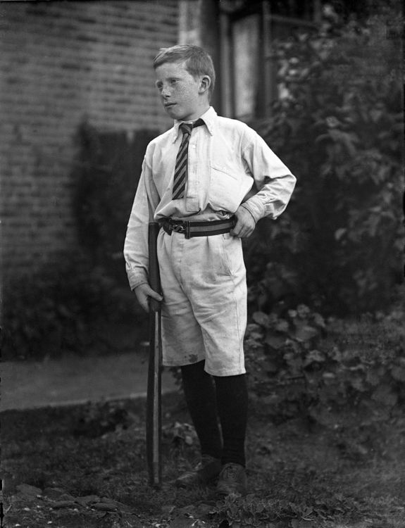 Portrait of a boy cricketer c.1905