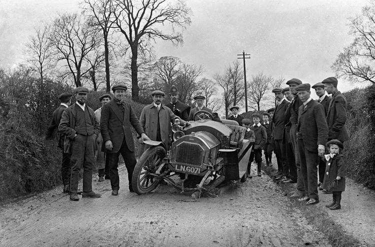 Automobile accident c.1912