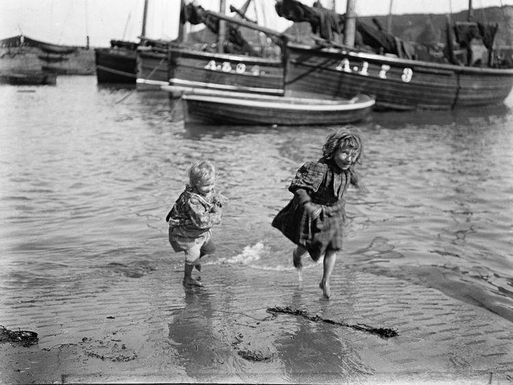 Children on slipway