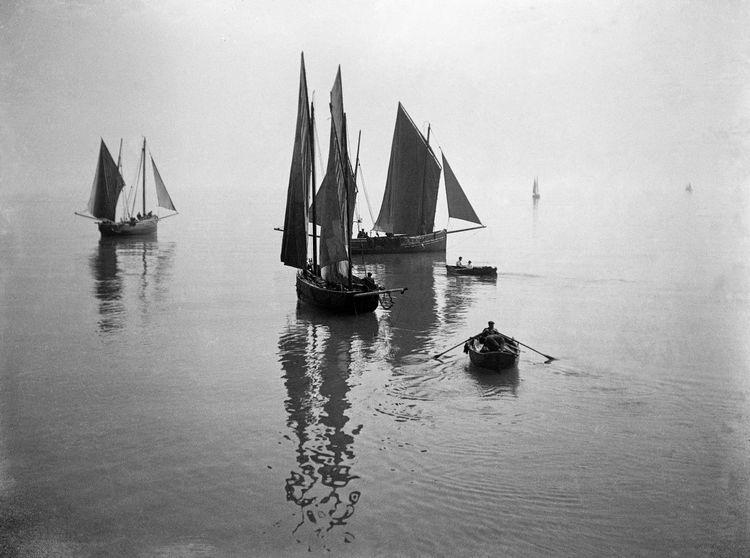 Fishing boats at Folkestone c.1908