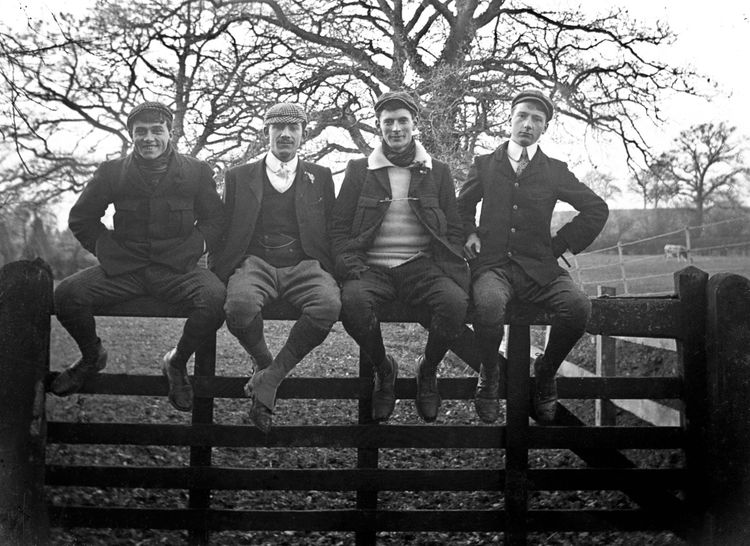 Four friends on a gate c.1904