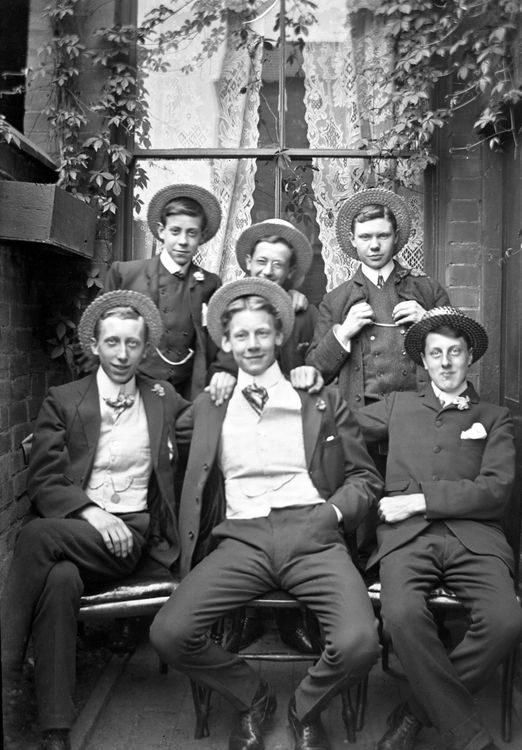Group portrait of young men c.1905