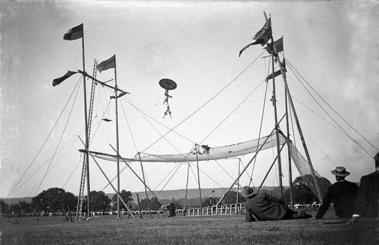 Tight rope walker c.1908