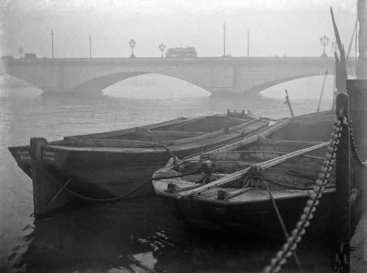 Barges on the Thames c.1908