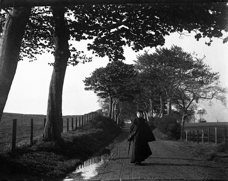 Portrait of a woman walking c.1905