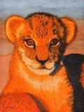 Original Basking in Evening Sun - Lion Cub