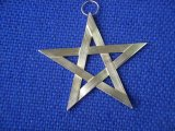 Large 5 Point Star in stirling silver