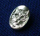Cat Face Pendant in Concave Relief