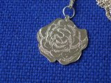 Double Rose Pendant in stirling silver