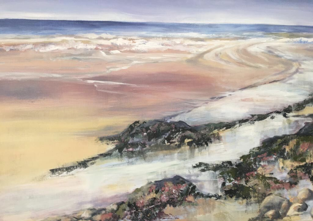 Filey Beach painting