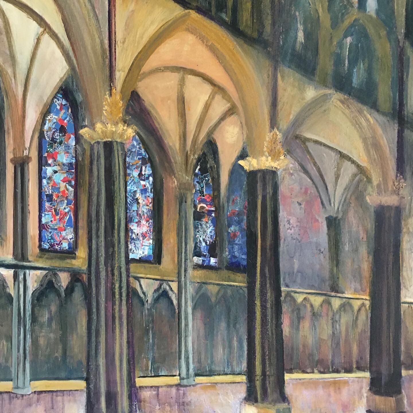 Lincoln Cathedral painting