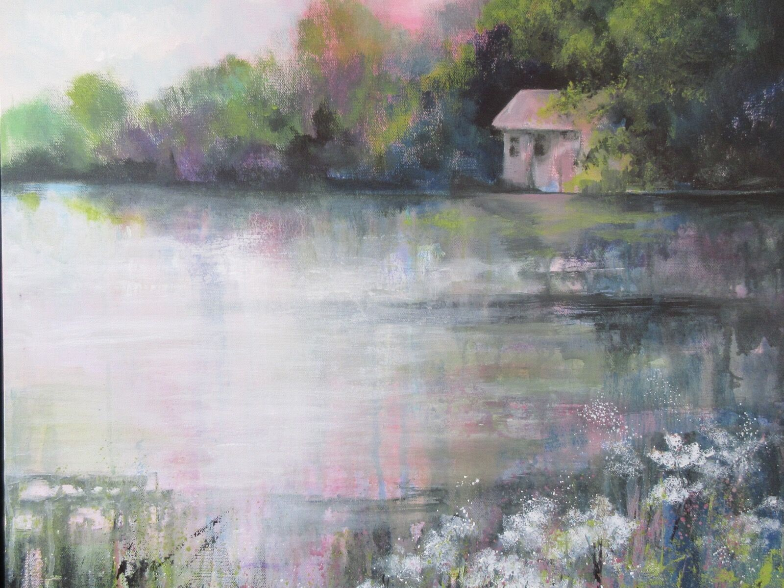 Hackthorn Pond painting